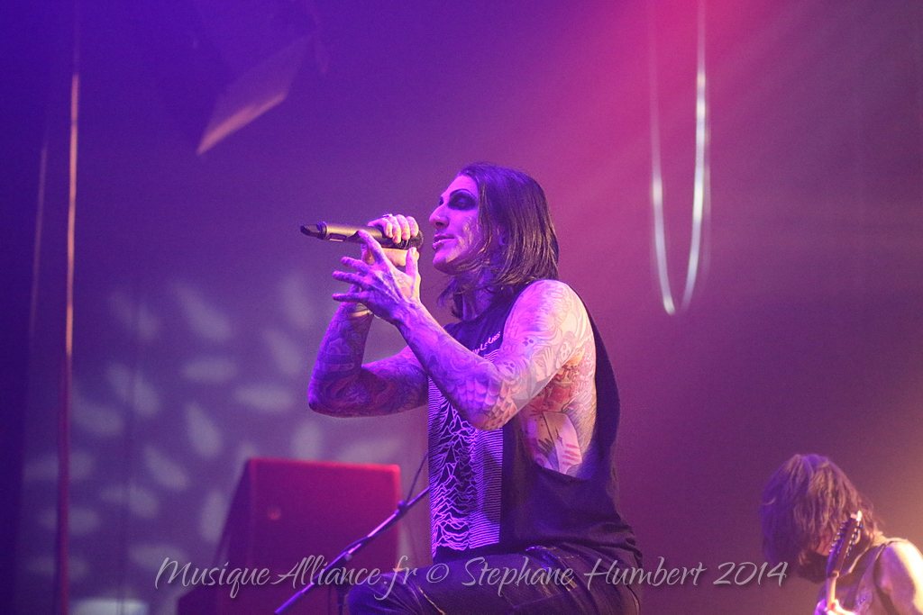 Motionless White Chris Cerulli in luxembourg